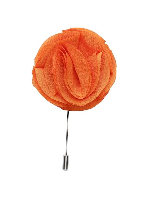 Alvaro Castagnino Men Orange Silver Lapel Pin