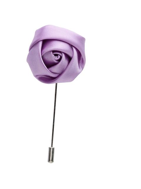 Alvaro Castagnino Men Purple Silver Lapel Pin
