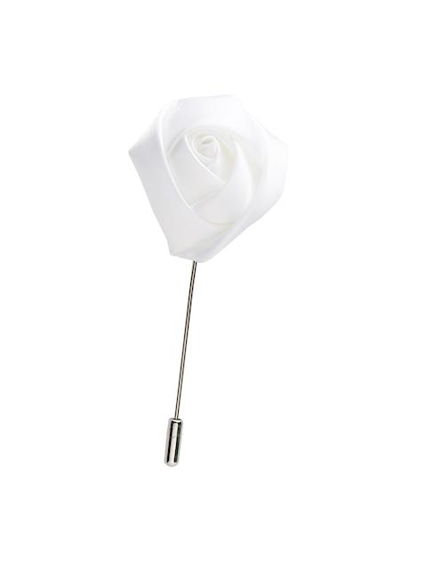 Alvaro Castagnino Men White Silver Lapel Pin