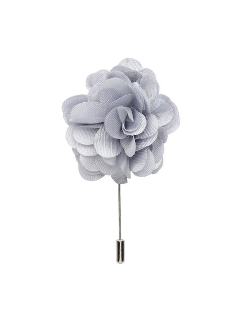 Alvaro Castagnino Men Grey Silver Lapel Pin