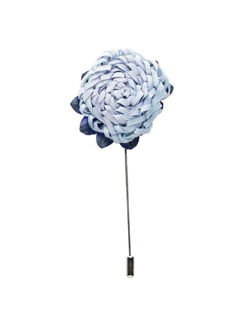 Alvaro Castagnino Men Blue Silver Lapel Pin