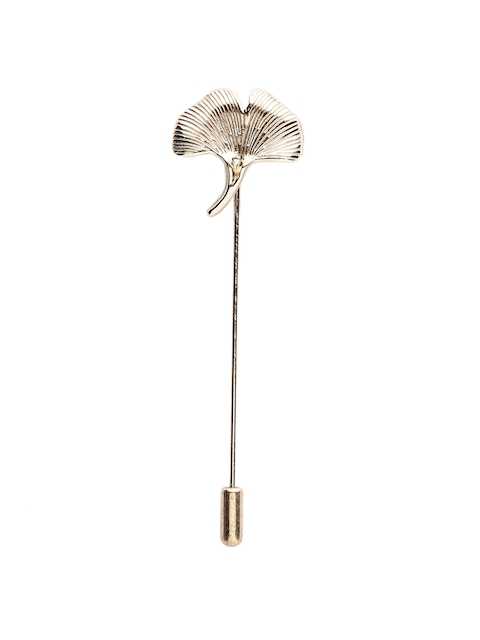 Alvaro Castagnino Men Gold-Toned Silver Lapel Pin