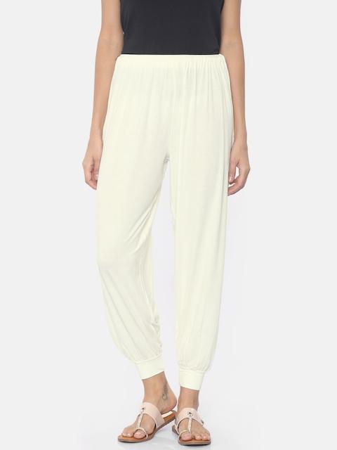 Go Colors Cream Harem Pants
