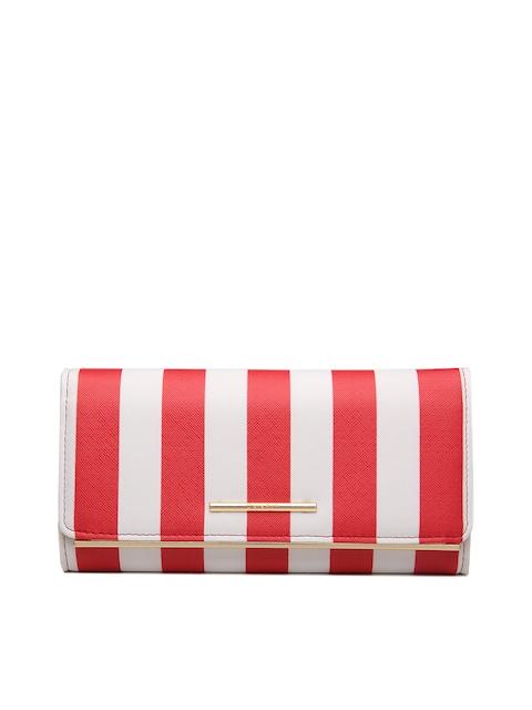 Diana Korr Women Red & White Striped Two Fold Wallet