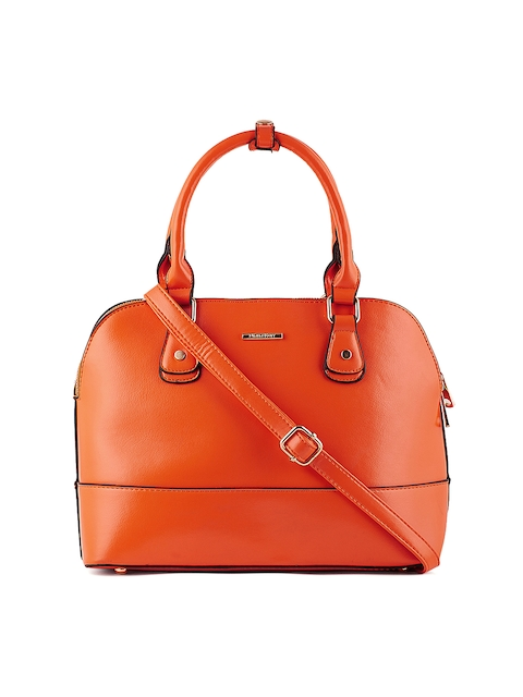 Diana Korr Orange Solid Handheld Bag