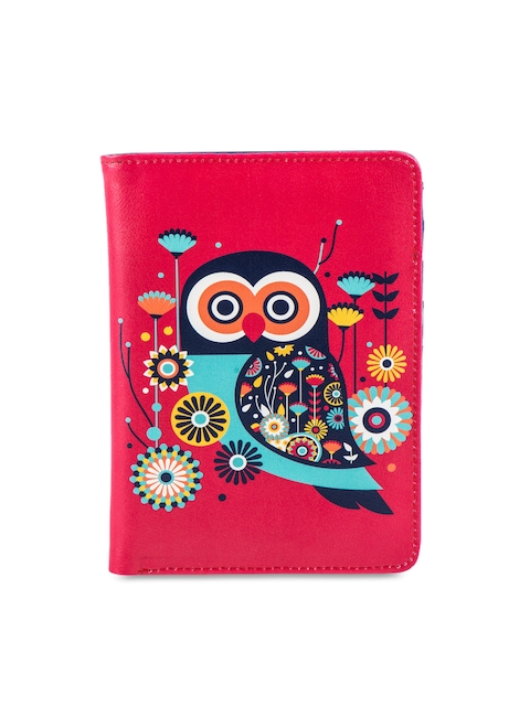 Chumbak Women Red Printed Passport Holder