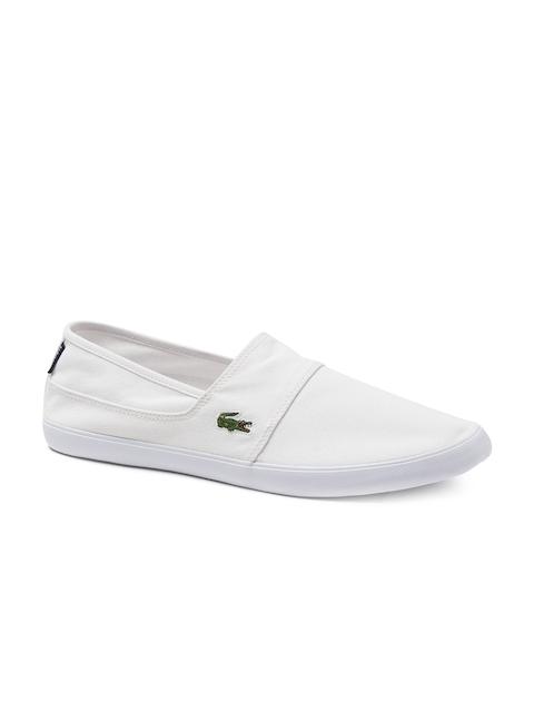 Lacoste Men White Slip-On Shoes