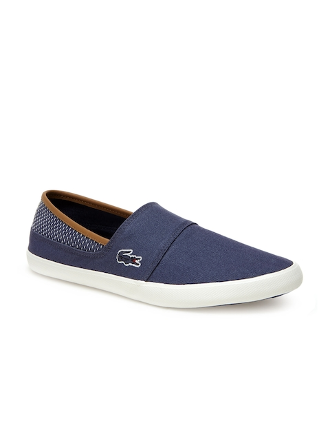 Lacoste Men Blue Slip-On Sneakers