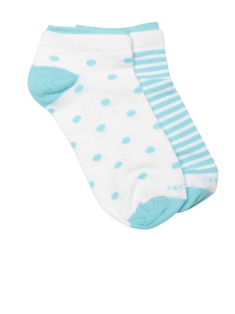 Jockey Women Pack of 2 White & Blue Ankle-Length Socks