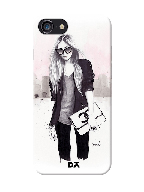 DailyObjects Back In Black Case For iPhone 7/8