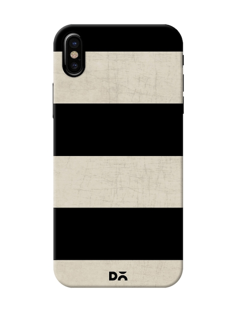 DailyObjects Black & Off White Stripes Mobile Case For iPhone X