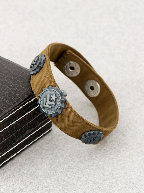 Dare by Voylla Brown Leather Wraparound Bracelet