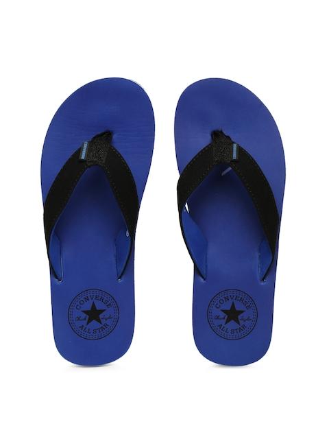 Converse Men Black & Blue Solid Thong Flip-Flops