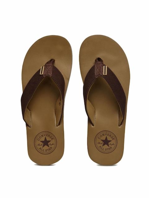 Converse Men Brown Solid Thong Flip-Flops