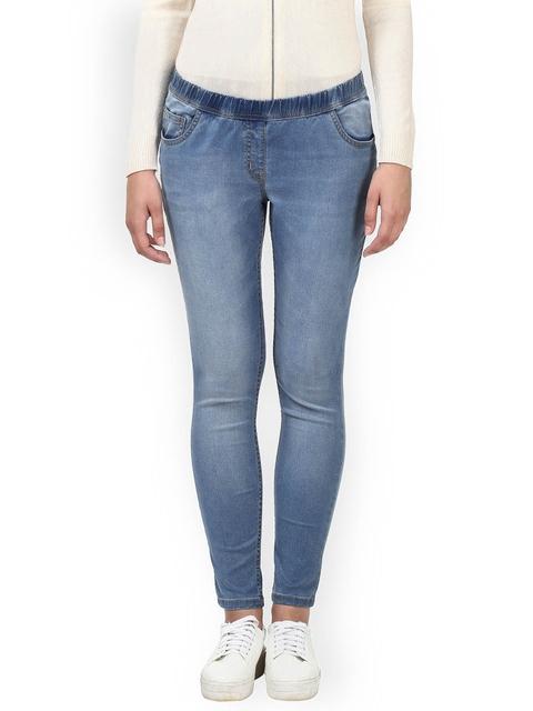 Park Avenue Women Blue Slim Fit Mid-Rise Clean Look Stretchable Jeans