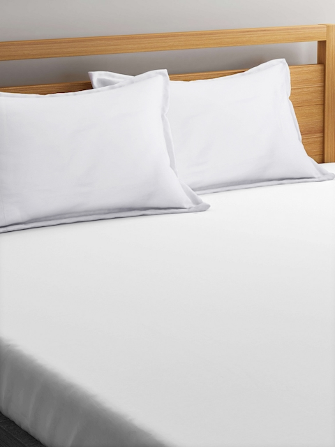 "CHRISTY Set of 2 White 20""x 29.5"" Rectangular Pillow Covers"