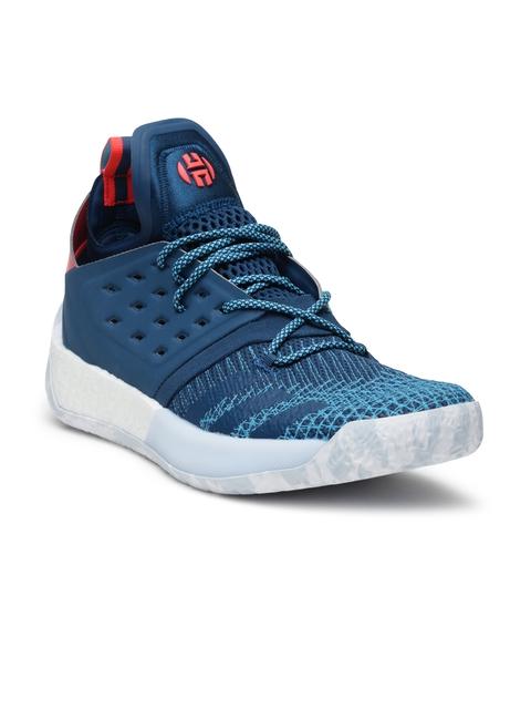 Adidas Men Blue Harden Vol. 2 Basketball Shoes