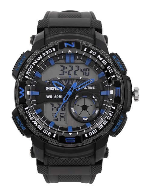 Skmei Men Black Analogue and Digital Watch 1109BL