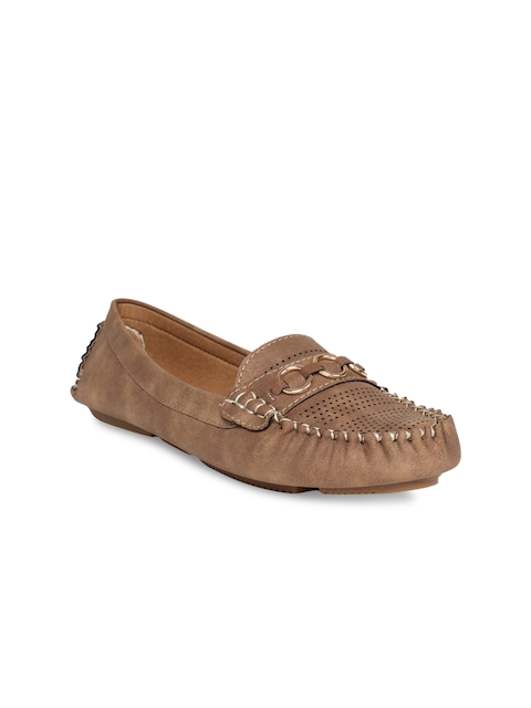 Flat n Heels Women Brown Loafers