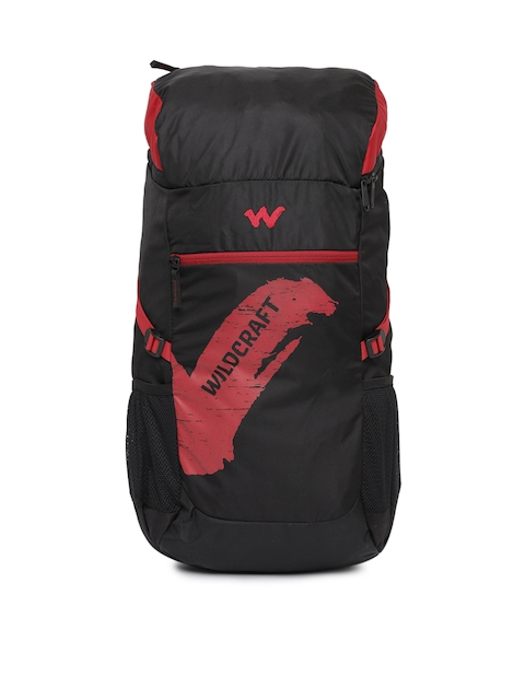 Wildcraft Men Black & Red Printed Rucksack