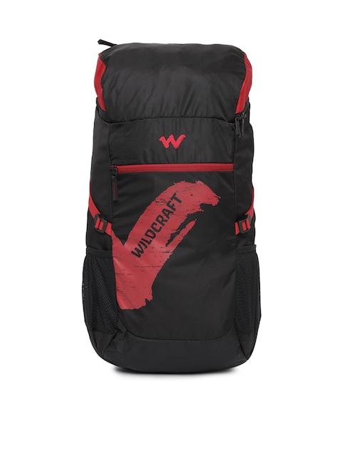 Wildcraft Men Black & Red Printed Rucksack