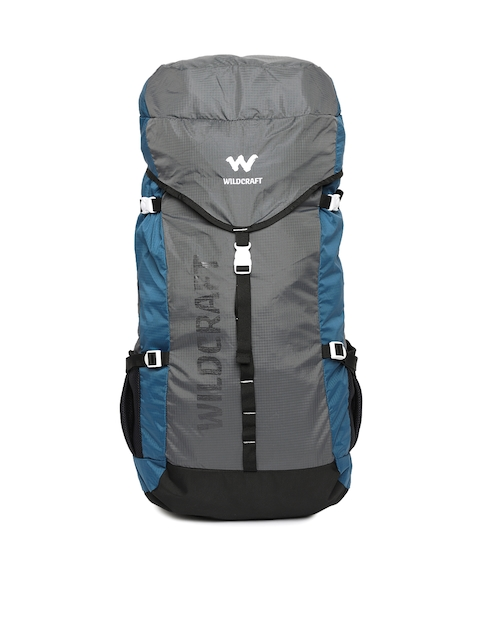 Wildcraft Men Grey & Blue Printed Rucksack