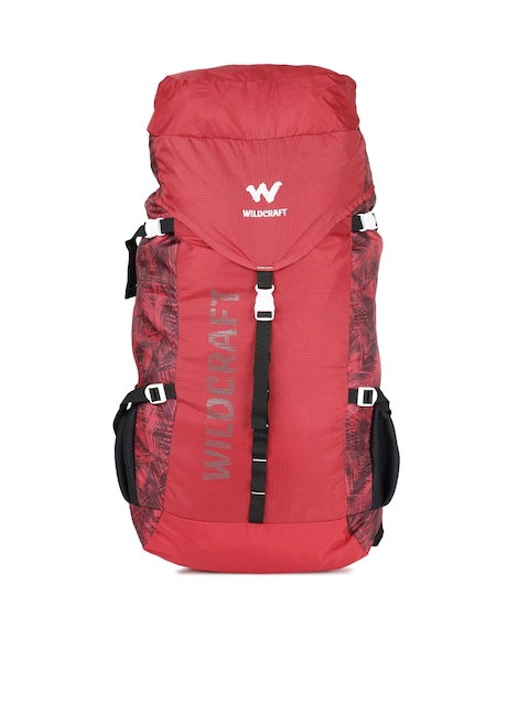 Wildcraft Men Red RUS2 Foliage Printed Rucksack