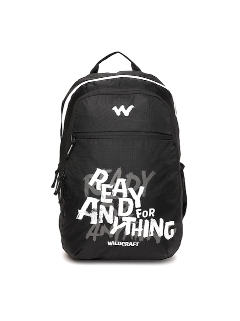 Wildcraft Men Black Graphic Backpack