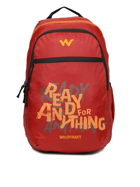 Wildcraft Men Red Graphic Backpack