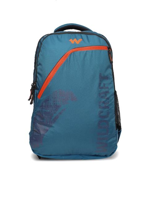 Wildcraft Men Blue Brand Logo Backpack