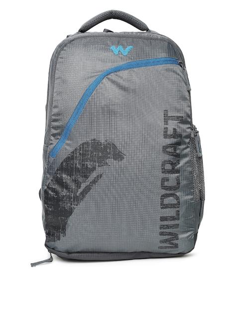 Wildcraft Men Grey Brand Logo Backpack