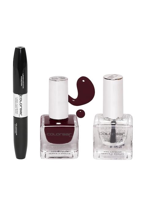 Colorbar Pack of 3 Nail Paint & Mascara Duo