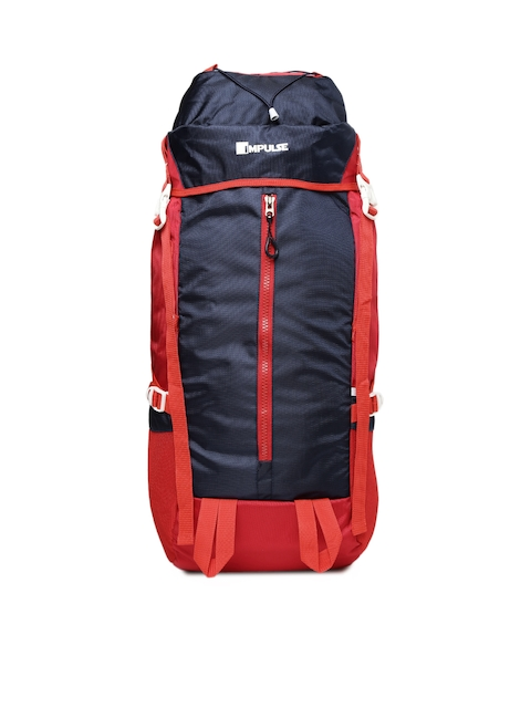 Impulse Unisex Red & Navy Thriller 65 Litres Rucksack