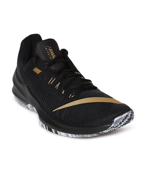 Nike Men Black AIR MAX INFURIATE 2 LOW Basketball Shoes