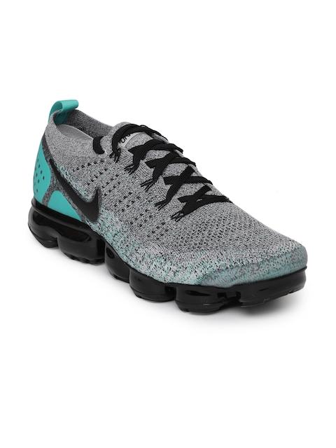Nike Men Black & Grey Air VaporMax Flyknit 2 Running Shoes