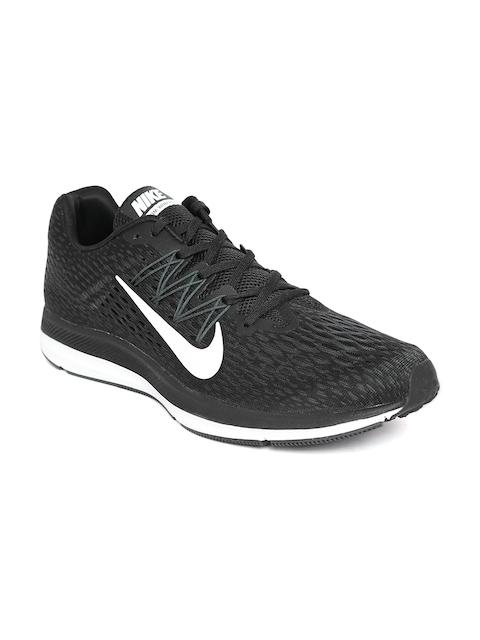 Nike Men Black Zoom Winflo 5 Running Shoes