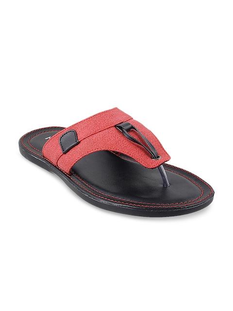 Metro Men Red Comfort Sandals