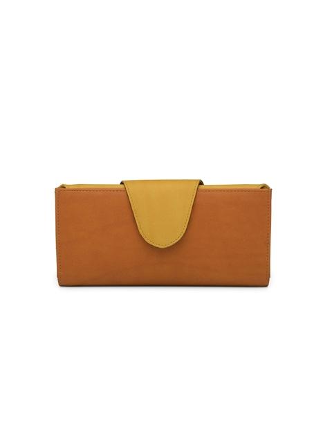 Butterflies Women Tan Solid Two Fold Wallet