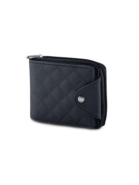 Butterflies Women Black Solid Zip Around Wallet