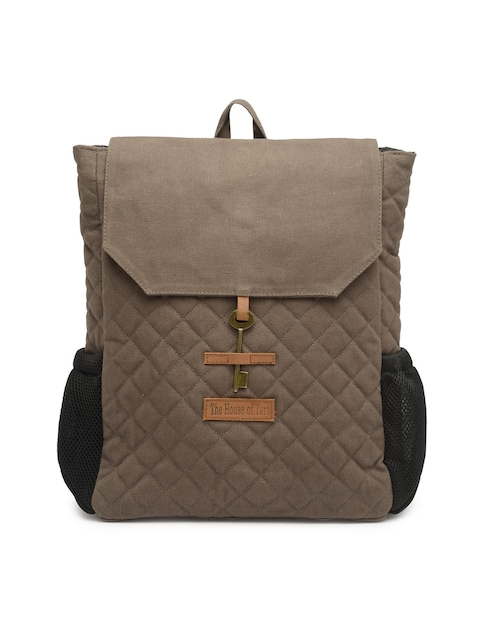 The House of Tara Unisex Grey Solid Backpack