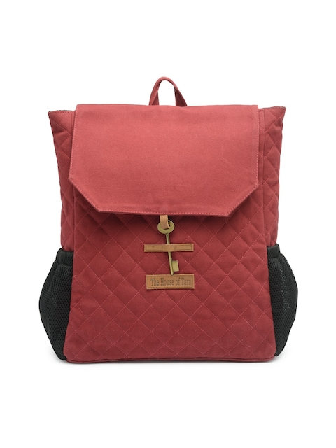 The House of Tara Unisex Red Solid Backpack