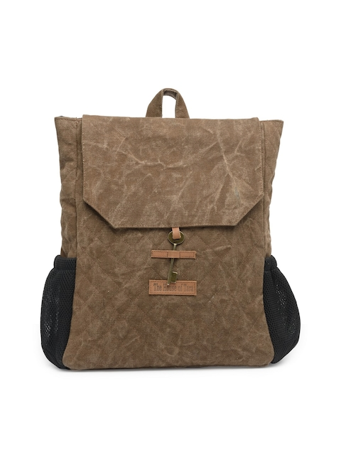 The House of Tara Unisex Brown Solid Backpack