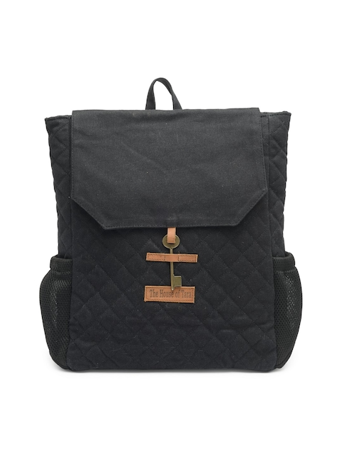 The House of Tara Unisex Black Solid Backpack