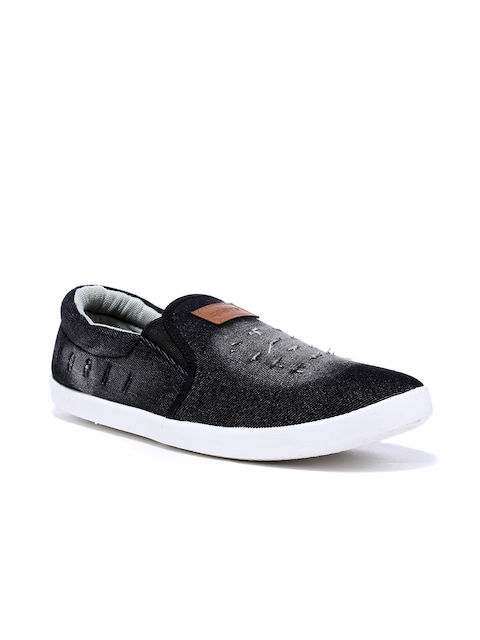 Sparx Men Black Faded Slip-On Sneakers