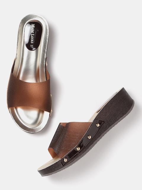 Marc Loire Women Brown Solid Sandals