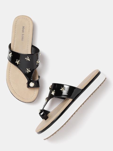 Marc Loire Women Black Solid Sandals