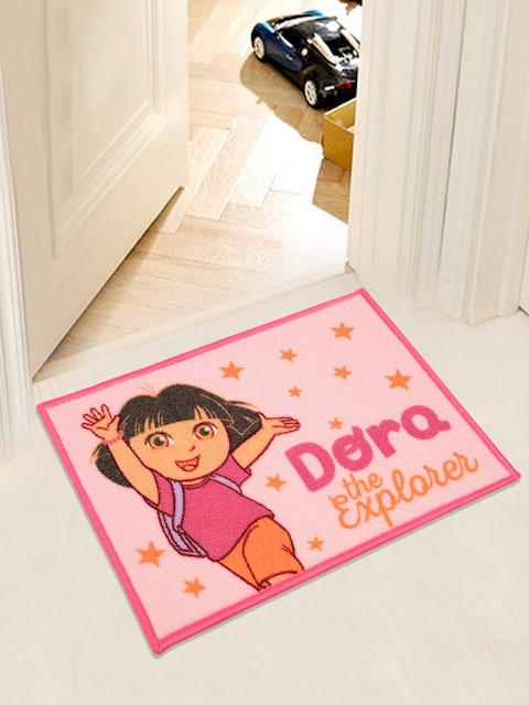 Saral Home Dora Polyester Printed Anti Slip Door Mat