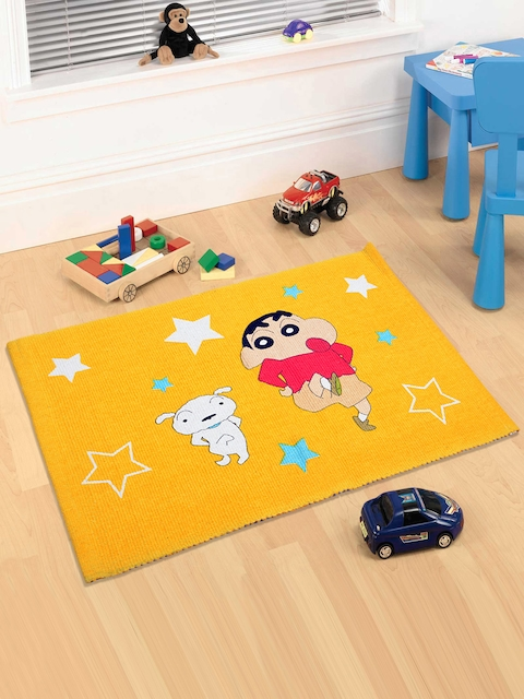 Saral Home Yellow Shinchan Print Doormat