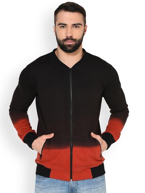 GRITSTONES Men Black Solid Lightweight Open Front Jacket
