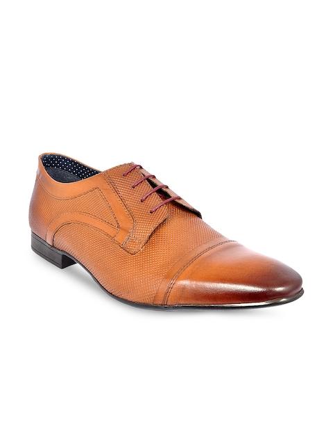Allen Cooper Men Tan Formal Leather Oxford Shoes